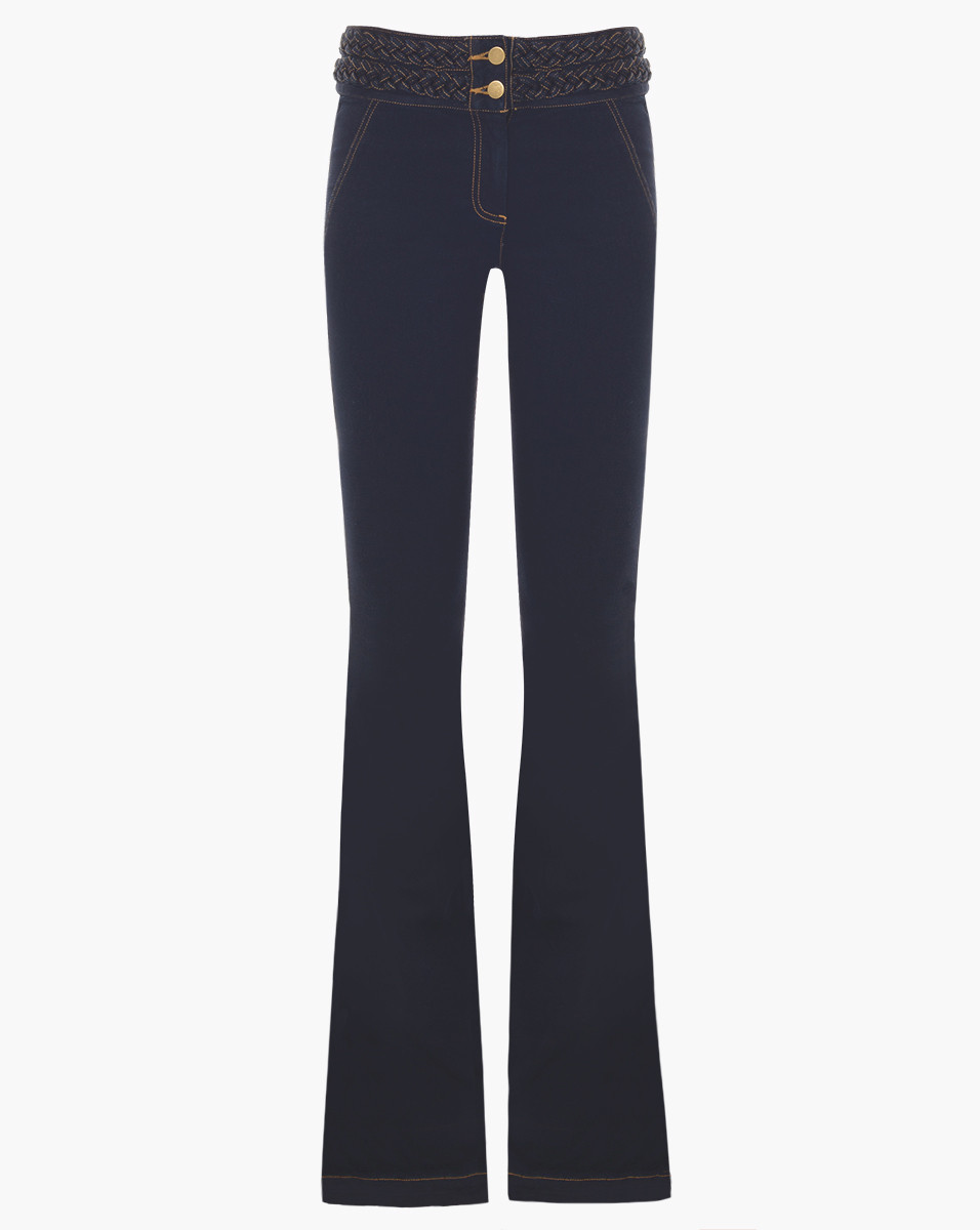 Veronica Beard Biscayne Braided High Waisted Jeans