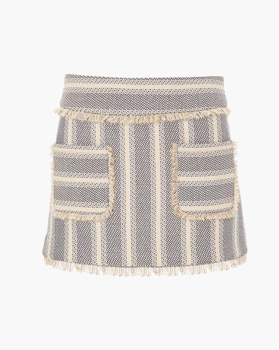Veronica Beard Fringe Magnolia Mini Skirt