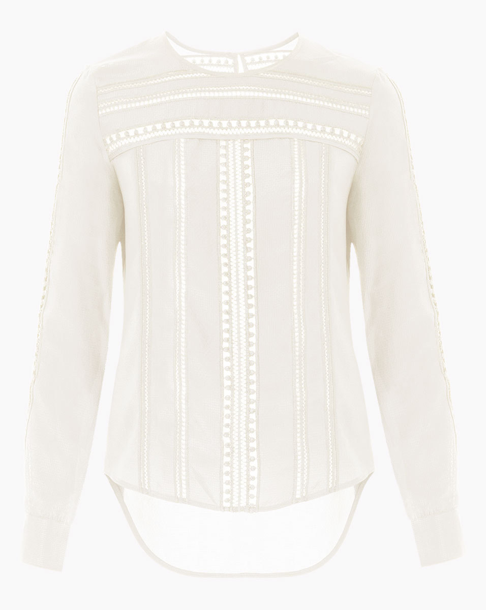 Veronica Beard White Coral Gables Top